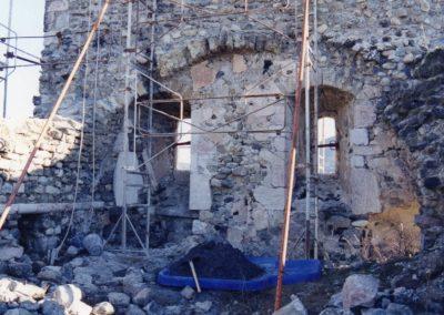 Jarjayes 3C Echafaudage mur clocher 2001 face nord