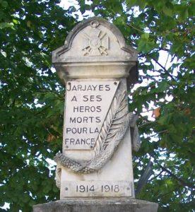 Jarjayes 3C - Monument aux morts -détail