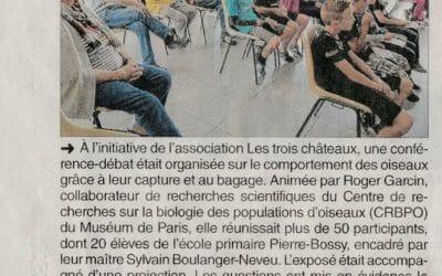 Article Dauphiné Libéré du  24 10 2017