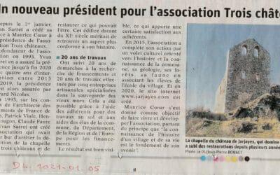 Article du Dauphiné Libéré du 5 janvier 2021